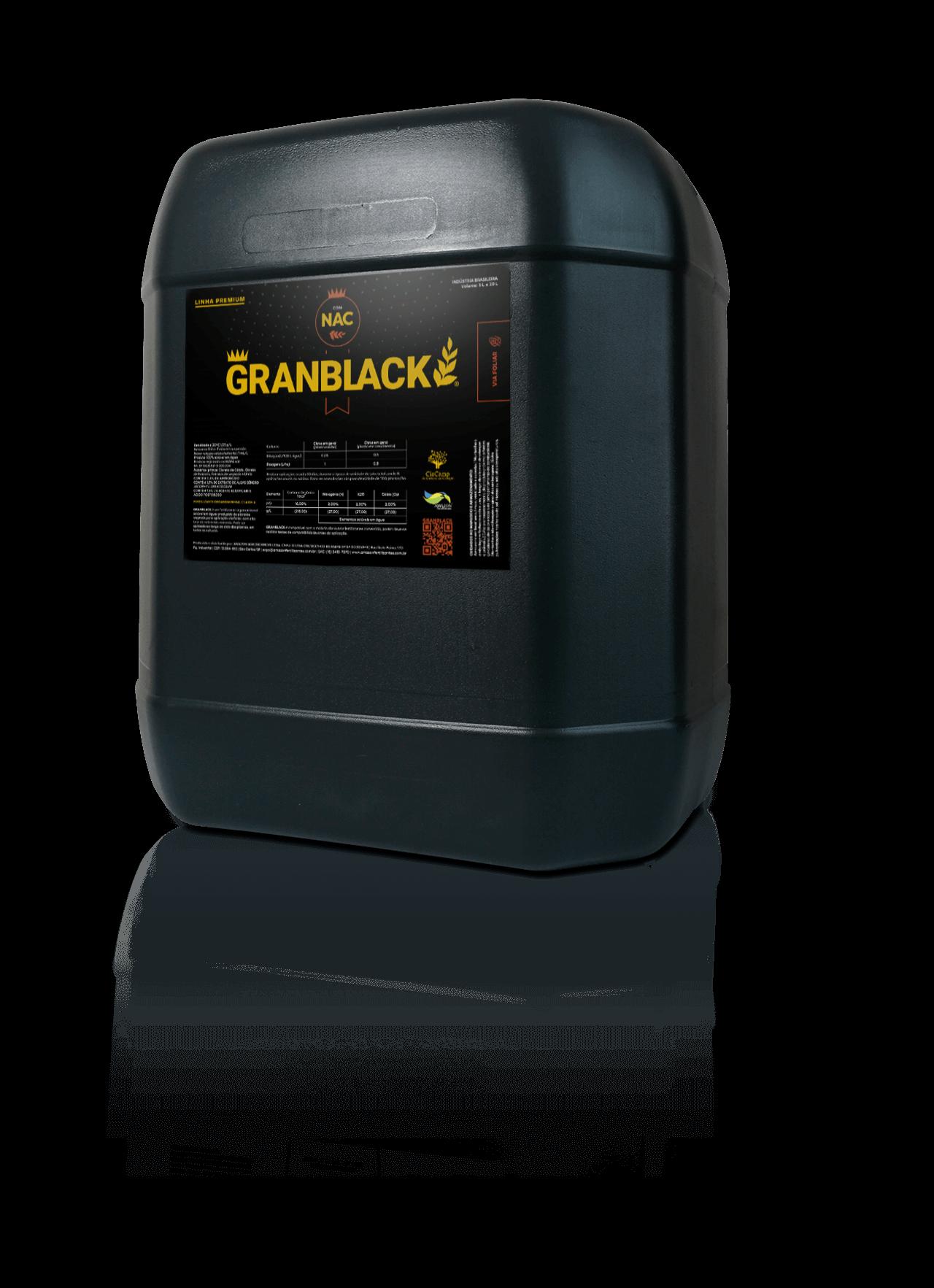 GRANBLACK Fertilizante Foliar Premium Bomba de 20L do Produto Com Reflexo Versão 2021