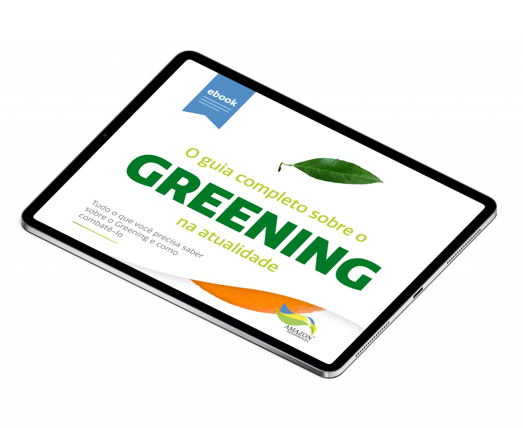 Amazon AgroSciences eBook O Guia Definitivo Contra o Greening Mockup Tablet
